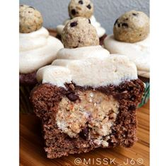 Cookie dough center chocolate protein muffins