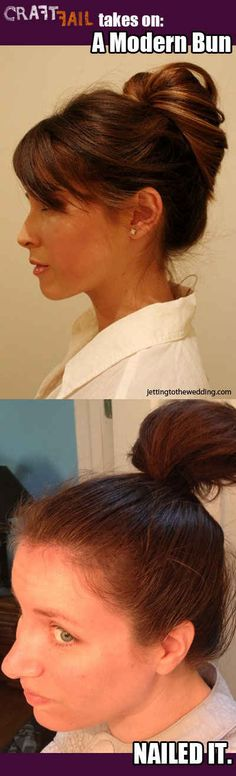 Modern sophistication at its finest. Pinterest hair, why you so impossible? | 16 Disappointing Pinterest Beauty Fails