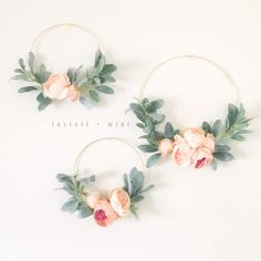 luxury cars - Set of Three Peony and Lambs Ear Wreaths Felt Flowers, Diy Flowers, Paper Flowers, Girl Baby Shower Decorations, Wedding Decorations, Girl Nursery, Nursery Decor, Peach Peonies, Flower Nursery