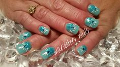 #romance #weddingday #fancynails Aqua nails by @ mariestory nails