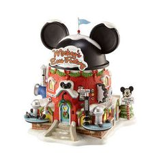 Mickey's Ears Factory~ I want this to go with my Disney Christmas Village