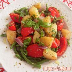 Insalata di fagiolini patate e pomodori - Ricette di cucina Il Cuore in Pentola
