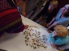 Charlotte Kaae underviser i at bruge mange farver i sit strik, www.bykaae.dk