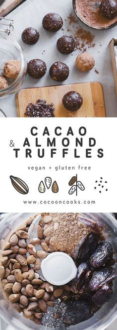 Cacao and Almond Truffles More