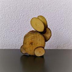 houten konijn knutselen Diy For Kids, Crafts For Kids, Wood Crafts, Diy And Crafts, Spring Forest, Forest School, Wooden Animals, Garden Ornaments, Artisanal