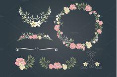 Vintage Rose Wedding Set Background
