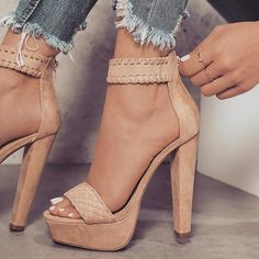2018 New Women's Fashion Sexy Sandals Summer Shoes High Heel Peep Toe Sandals Braided Foot Ring Square Heels Sexy Sandals Dr Shoes, Shoes Heels, Golf Shoes, Nude Heels, Gucci Shoes, Black Shoes, Oxford Shoes, Shoes Sneakers, Designer Shoes