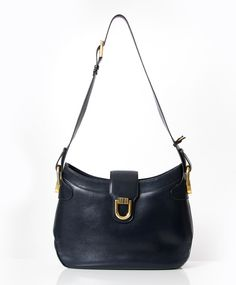 ... Belgian shoulder bag by lilousfabric. tweedehands Delvaux donker blauwe  schoudertas 9d7c370abb9f3