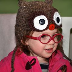 Free Crochet Pattern: Toddler Owl Hat