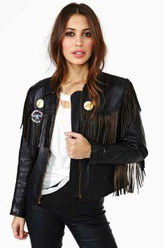 Rock On Fringe Leather Jacket