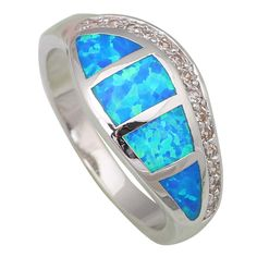 Find More Rings Information about New 2016 Fina Jewelry Party  Statement Rings for women Blue Opal silver jewelry Bridal ring size 5 6 7 8 9 R433,High Quality jewelry romantic,China jewelry onyx Suppliers, Cheap jewelry jet from Dana Jewelry Co., Ltd. on Aliexpress.com