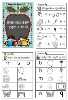 . Preschool Learning Activities, Preschool Lesson Plans, Classroom Activities, Kids Learning, Grade R Worksheets, Worksheets For Kids, Afrikaans Language, Toddler School, Alphabet For Kids