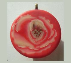 Single Red Rose Pendant Necklace EyeGloArts Glow in by EyeGloArts, $30.00