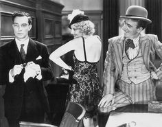 Buster Keaton, Thelma Todd, and Jimmy Durante in Speak Easily (1932)
