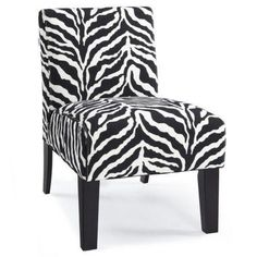 i LOVE zebra print chairs, couches, and pillows!