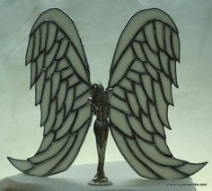 Image detail for -... body with stained glass wings i used a white glass with texture for