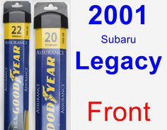 Front Wiper Blade Pack for 2001 Subaru Legacy - Assurance