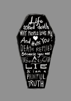 Life & Death Typography Inspiration; from abduzeedo.com Quote Of The Week, Dark Souls, Framed Prints, Canvas Prints, Art Prints, Dark Art, Quotes To Live By, Life Quotes, Life And Death