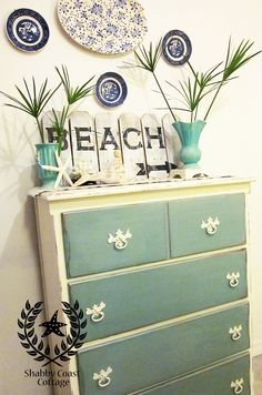 cute painted dresser--drawers painted a different color