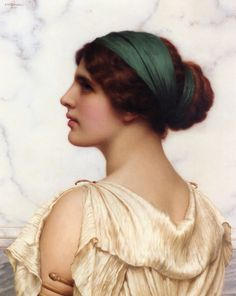 John William Godward (English Classicist Painter, 1861-1922) Atalanta. http://www.painterlog.com/