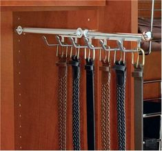 Rev-A-Shelf - Designer Series Belt/Scarf Organizer Rack (Chrome) - The Hardware Hut Deep Closet, Closet Rod, Closet Shelves, Master Closet, Closet Storage, Laundry Closet, Laundry Room, Pants Rack, Belt Rack