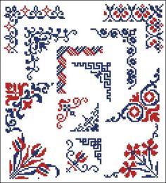 Corners cross-stitch:                                                                                                                                                                                 More