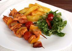 Vyborný špíz, môžete dať viac zeleniny, vynechať slaninu ... Bez prílohy vhodné aj pri delenej strave.