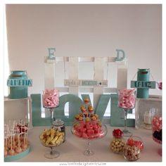 Para terminar el día, os dejamos un detalle del Candybar que hemos diseñado, para la boda de E&D.   Almería y Cádiz, hasta el infinito y más allá...  Acabo recibir un mensaje de la novia, felicitándonos. Sobran las palabras.   Y mi besito de hoy para mis #Lovers2014 S+JL ¡y vosotros sabéis porqueeeeeeeeeeeeeeeeeeeeeeeeeeeeee! :) #estoysuperHAPPY  ¡Buuuuuenas noches!  Ali LOVE  #love #amor #Cádiz #candy #candybar #weddings #Weddingplanner #Weddingplanner #destinationweddings #design #diseño