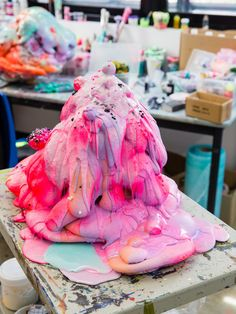 """whatevelyn2: """" Sydney artist Louise Zhang in her studio. Photo - Nikki To for The Design Files. """""""