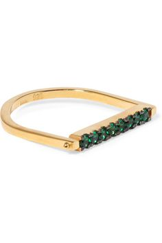 IAM by Ileana Makri | Gold-plated cubic zirconia ring | NET-A-PORTER.COM
