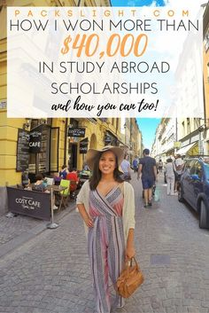 """Never say """"I just don't have the money..."""" again as an excuse not to study abroad! I show you step by step how I won more than $40,000 for my study abroad experience, and how you can do the same!"""
