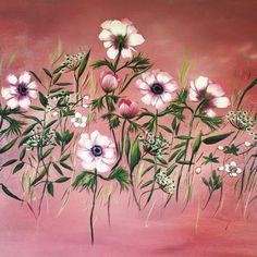 anemonies ,oil on canvas