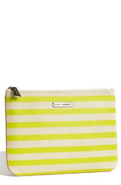 "A little bag named the ""Erin""....of course I think it's cute! ;)  Erin Stripe Pouch / Rebecca Minkoff"