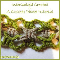 How to Crochet Interlocked Crochet Stitches - Photo Tutorial