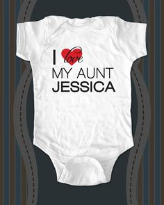 I love My Aunt Uncle Sister Brother Cousin custom baby onesie or shirt for Infant, Toddler, Youth - design 4 on Etsy, $15.88