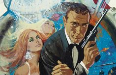 Diamonds Are Forever, 1971, concept artwork by Robert McGinnis, gouache and mixed media on board 86.5 x 47.5cm
