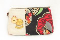 Handmade Pouch / Cosmetic Pouch - S$24.80 Cosmetic Pouch, Cow, Coin Purse, Product Launch, Cosmetics, Wallet, Purses, Lady, Handmade