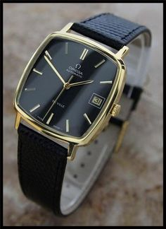 AUTHENTIC MENS OMEGA DEVILLE AUTOMATIC CAL.565, 18K YELLOW GOLD-FILLED w/ DATE