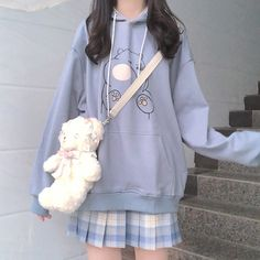 Japanese ins college wind cute bear hoodie sold by Asian Cute {Kawaii Clothing}. Shop more products from Asian Cute {Kawaii Clothing} on Storenvy, the home of independent small businesses all over the world. Pastel Fashion, Cute Fashion, Fashion Outfits, Cute Korean Fashion, Grunge Outfits, Japanese Outfits, Korean Outfits, Japanese Fashion Styles, Japanese Kawaii Fashion
