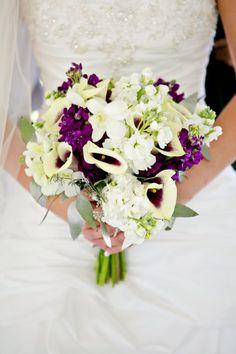 Purple and white wedding bouquet! White Wedding Bouquets, Bride Bouquets, Wedding Flower Inspiration, Bridal Show, Dream Wedding, Wedding Things, Bridesmaid Dresses, Wedding Dresses, Bridal Flowers
