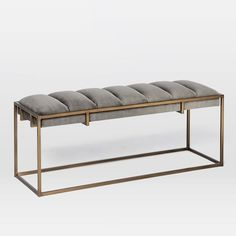 "WEST ELM - Fontanne Upholstered Bench - 43""W x 13.75""D x 17""H - $399"