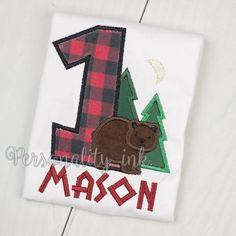 Lumberjack Birthday Shirt - First Birthday Shirt - Boys lumber jack shirt - Boys forest bodysuit - Bear by personalityink on Etsy https://www.etsy.com/listing/242147943/lumberjack-birthday-shirt-first-birthday