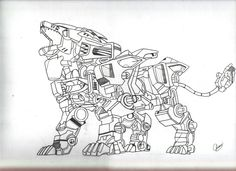 cool drawings   super cool liger!