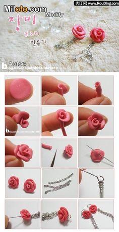 DIY Clay Flower Earrings DIY Projects | UsefulDIY.com