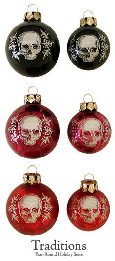 Skull Ornaments Set