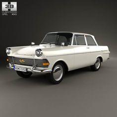 Opel Rekord (P2) 2-door sedan 1960 3d model from humster3d.com. Price: $75