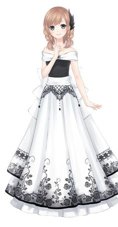 Drawing anime girl kawaii outfit Ideas for 2019 - Drawing anime girl kawaii outfit Ideas for 2019 - Anime Neko, Manga Kawaii, Chica Anime Manga, Kawaii Anime Girl, Pretty Anime Girl, Cool Anime Girl, Beautiful Anime Girl, Anime Art Girl, Beautiful Dresses