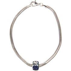 New York Yankees Women's Premier Bracelet with Bead - Silver