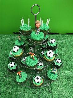 Argentina- Soccer theme cupcakes