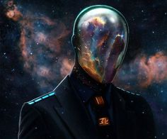 """Mysterio Concept Costume - Spiderman movies have yet to include Myterio as a villain, but what would a modern-day costume look like? We found Dan LuVisi's character """"Hex"""" and thought it was PERFECT. Mysterio is an illusionist and effects master, so it's fitting that he would appear part magician / part Daft Punk."""